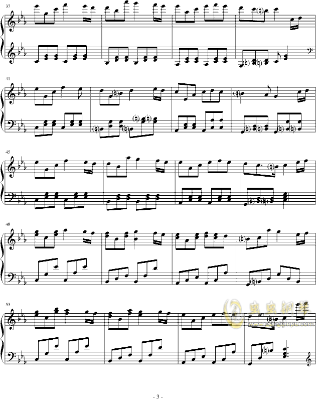 Satans love钢琴谱 第3页