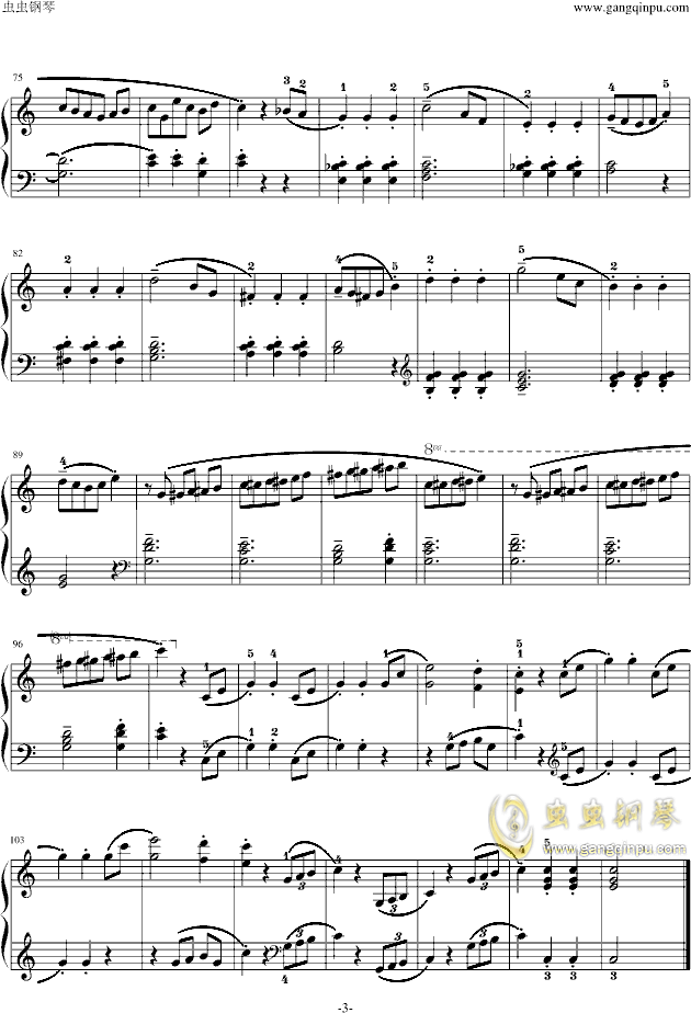 小奏鸣曲钢琴谱 第3页