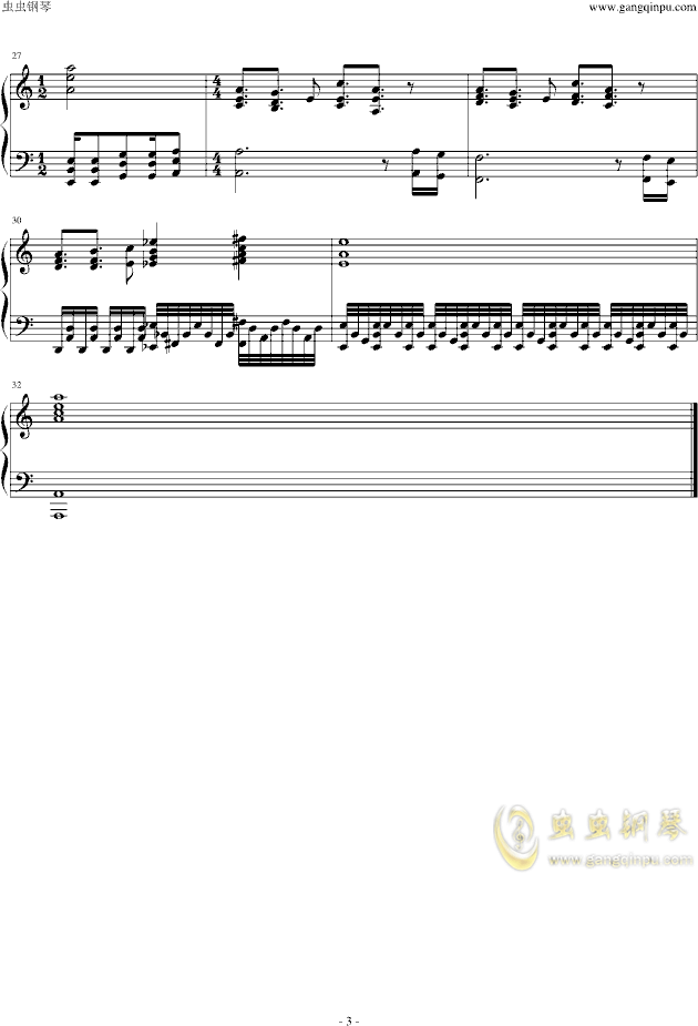STAND PROUD钢琴谱 第3页