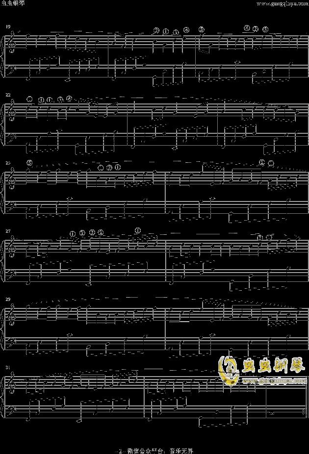 卡农 极简版带指法,卡农 极简版带指法钢琴谱,卡农 版图片