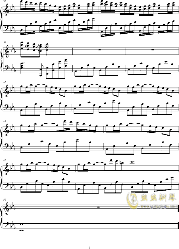 旋风花,旋风花钢琴谱,旋风花钢琴谱网,旋风花钢琴谱大全,虫虫钢琴谱下载