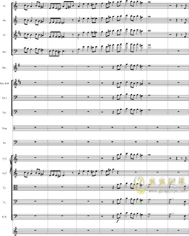 华丽乐章No.1钢琴谱 第19页