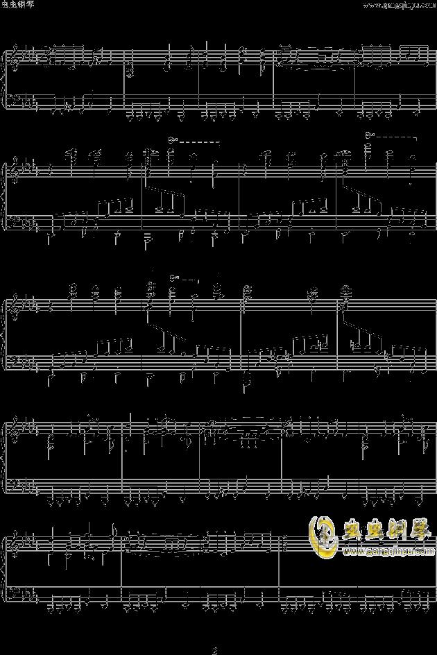 西游记主题曲钢琴谱 第2页