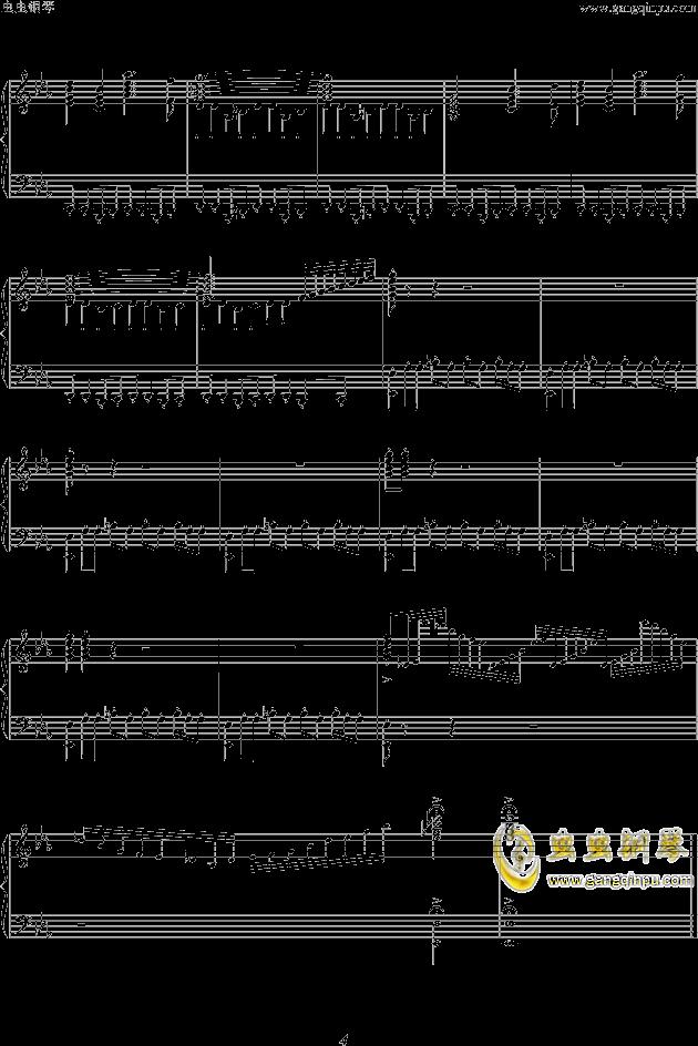 86版西游记 主题曲 片头曲 钢琴谱