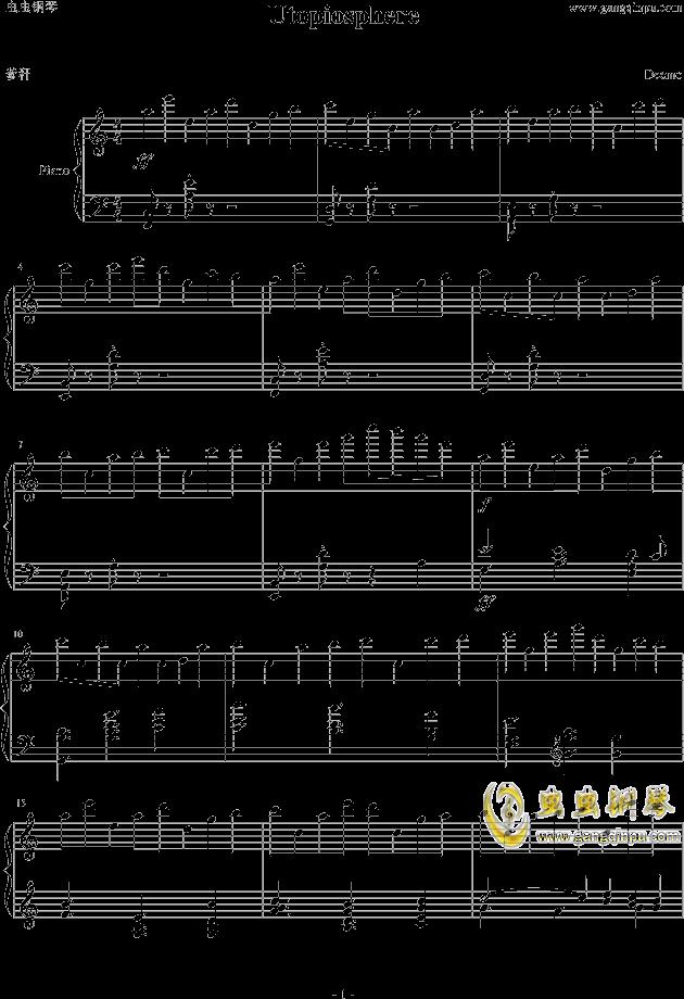 Utopiosphere钢琴谱 第1页