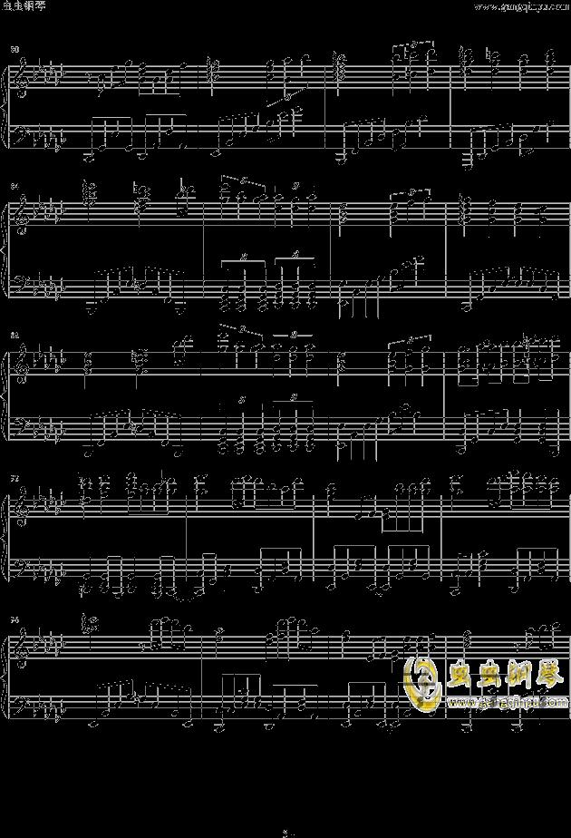 神々が恋した幻想�_钢琴谱 第5页
