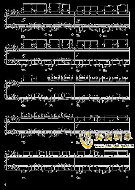 四叶草的幻想钢琴谱 第4页