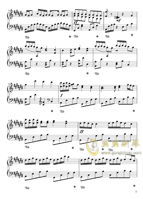 四叶草的幻想钢琴谱 第5页
