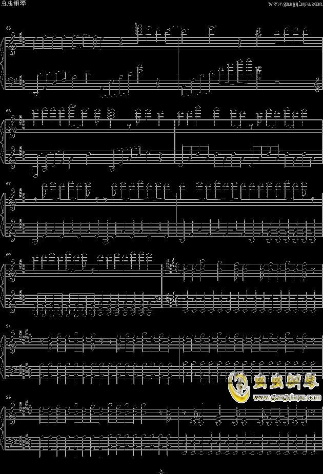 钢琴曲谱lovestory