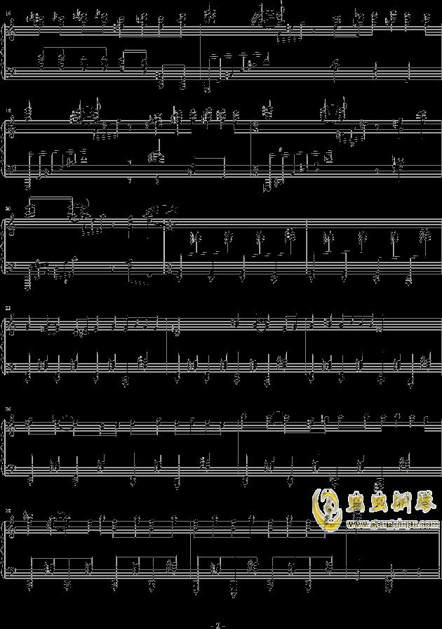 机械钢琴谱 第2页