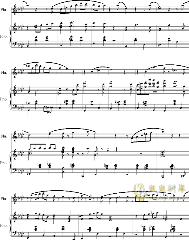 落在墙角的旋律钢琴谱 第5页
