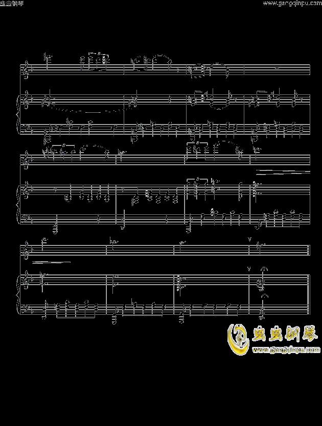 笛子视奏曲谱-小夜曲 舒伯特 钢琴谱 长笛