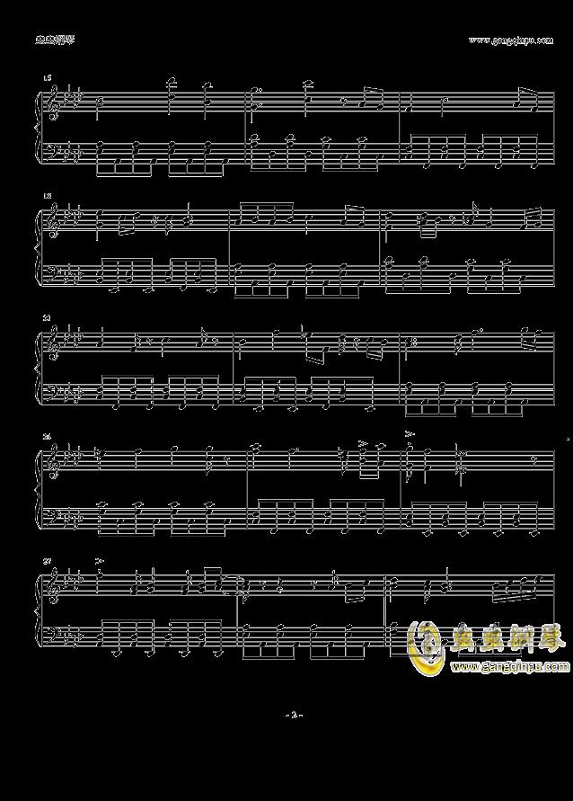 柯南主题曲钢琴谱 第2页