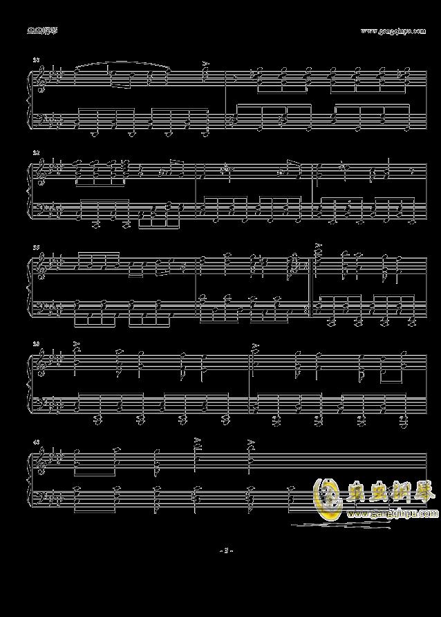 柯南主题曲钢琴谱 第3页