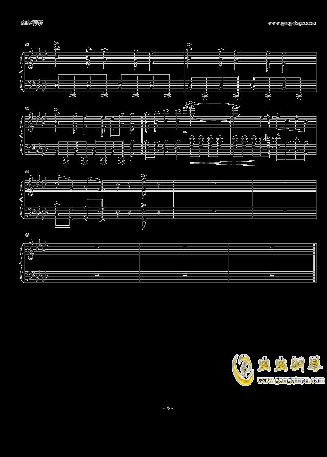 柯南主题曲钢琴谱 第4页