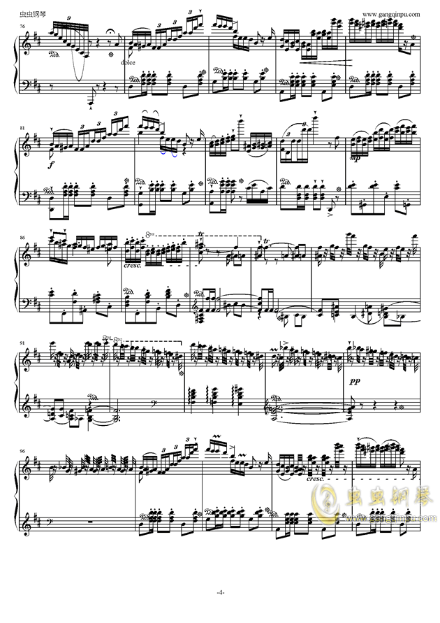 波兰舞曲钢琴谱 第4页