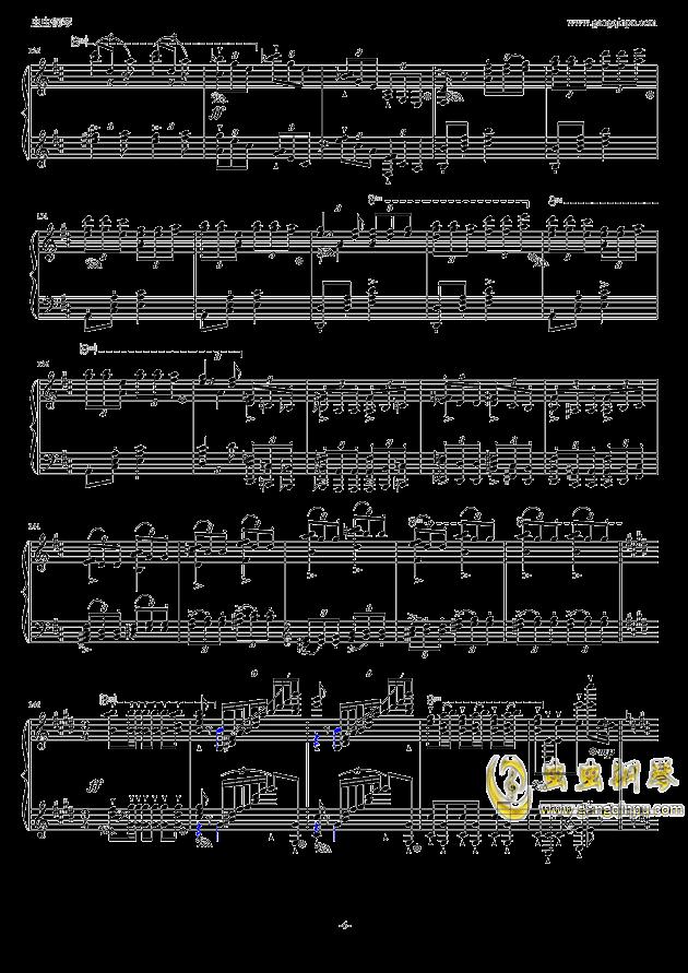 波兰舞曲钢琴谱 第6页