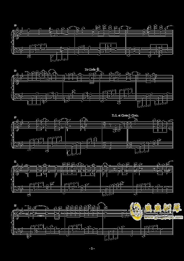 再见钢琴谱 第2页