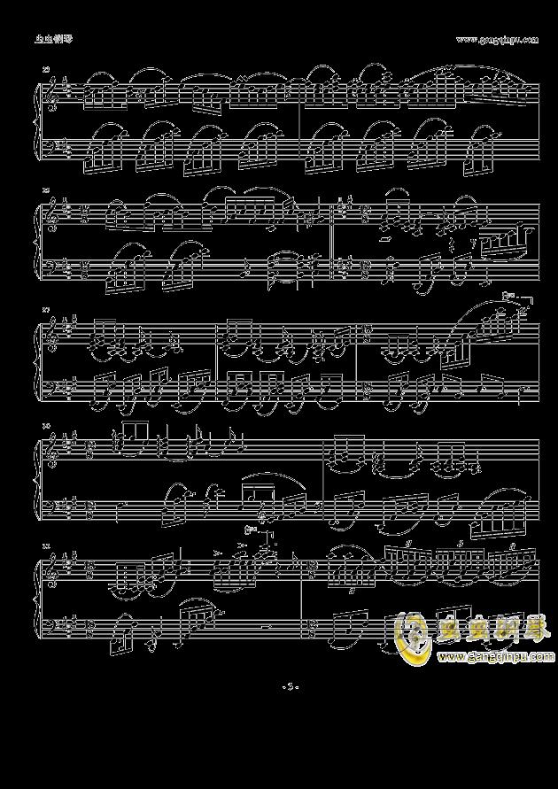 纯白钢琴谱 第3页