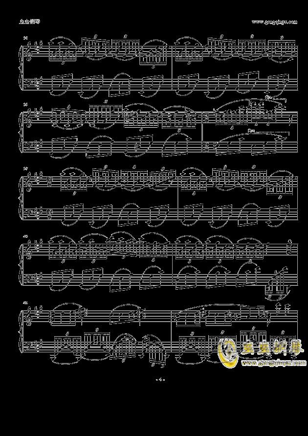 纯白钢琴谱 第4页
