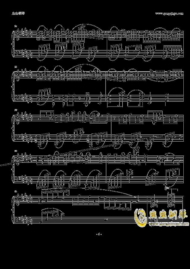 纯白钢琴谱 第6页