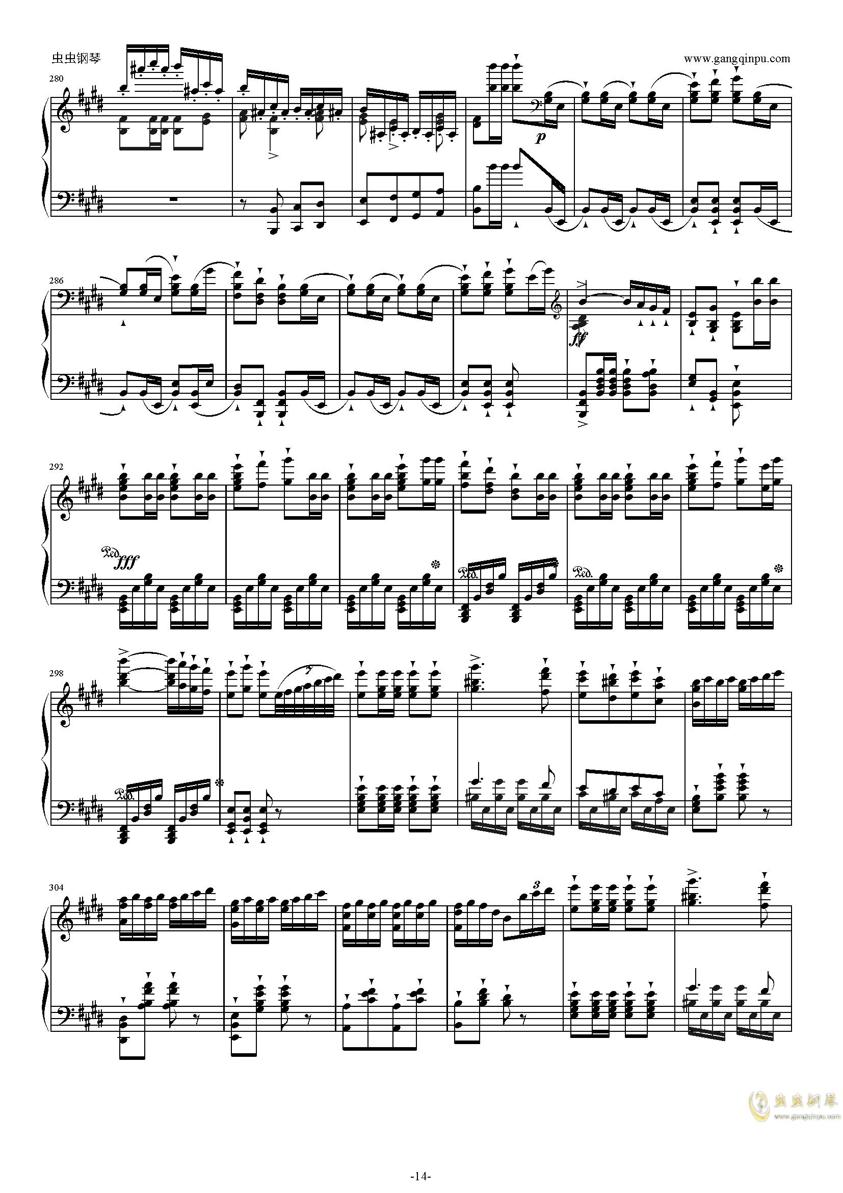 威廉・退尔序曲钢琴谱 第14页
