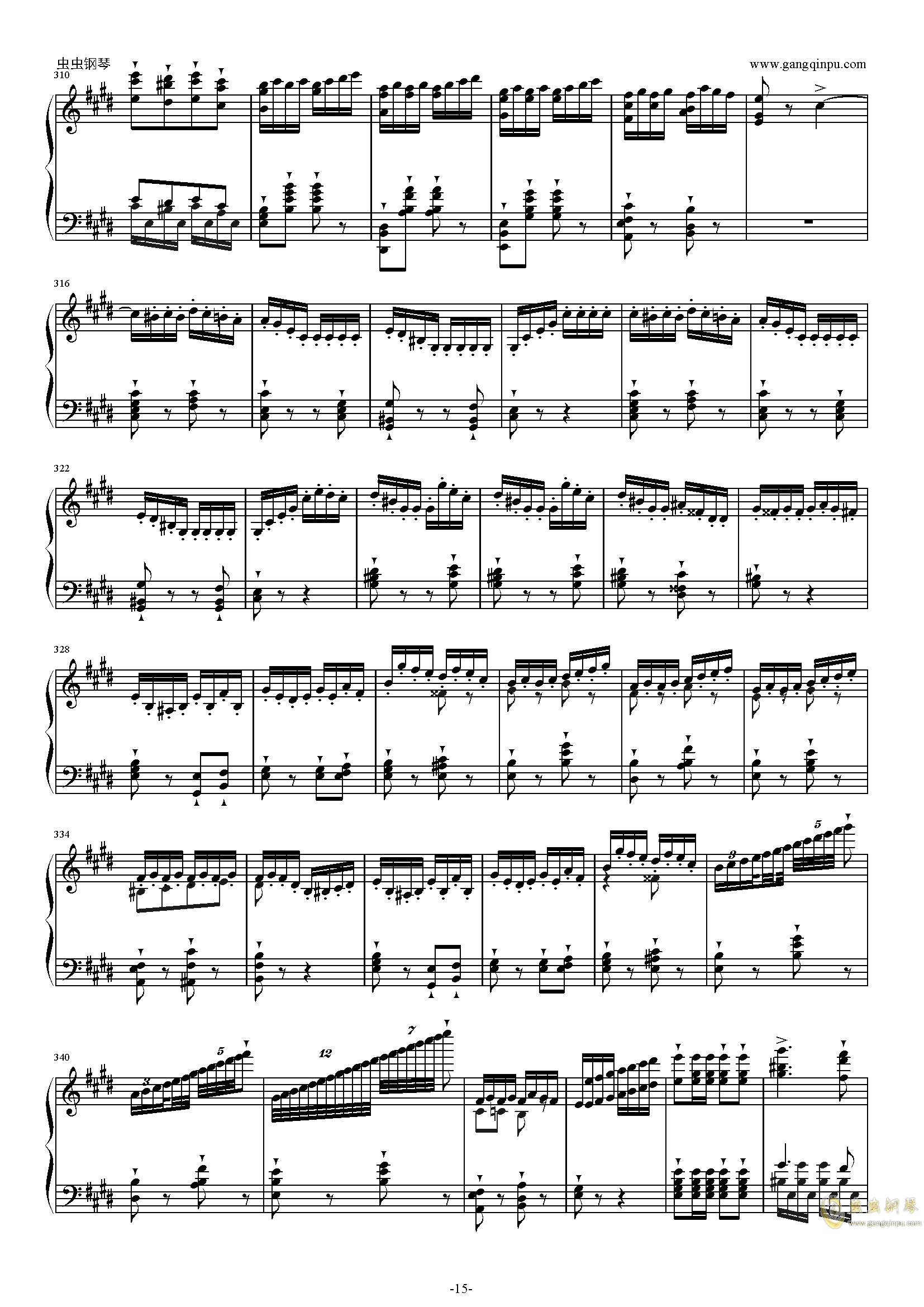 威廉・退尔序曲钢琴谱 第15页