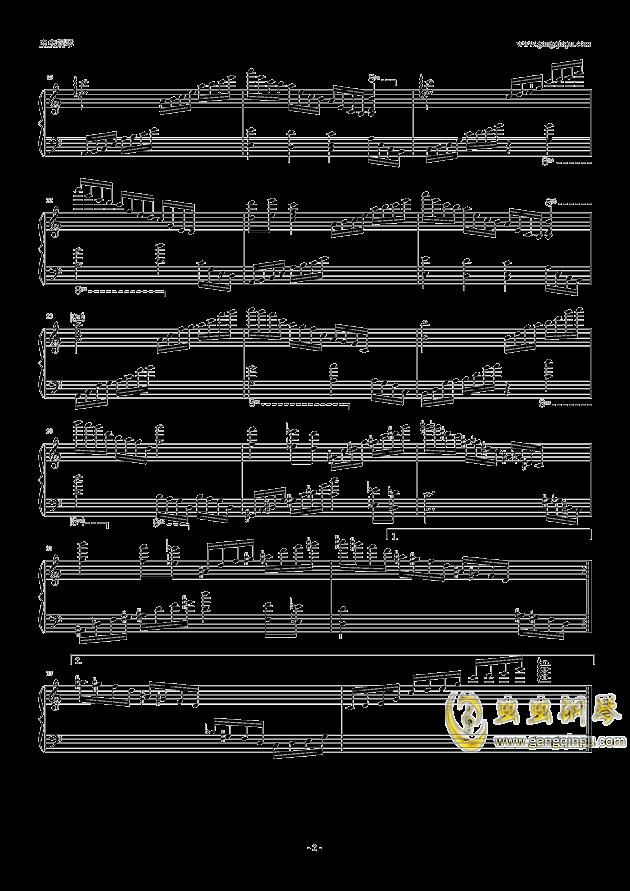 水晶序曲钢琴谱 第2页