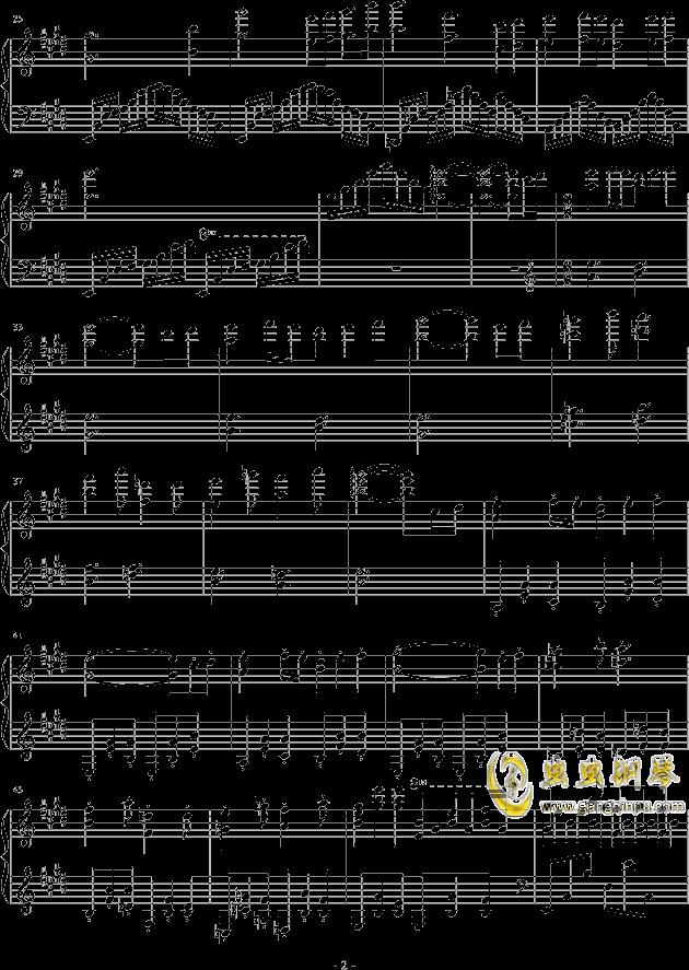 花之咏叹钢琴谱 第2页
