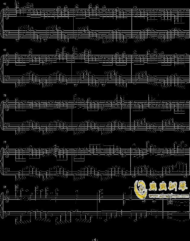 烟城钢琴谱 第4页