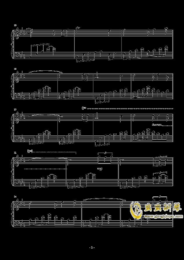 心痛钢琴谱 第2页