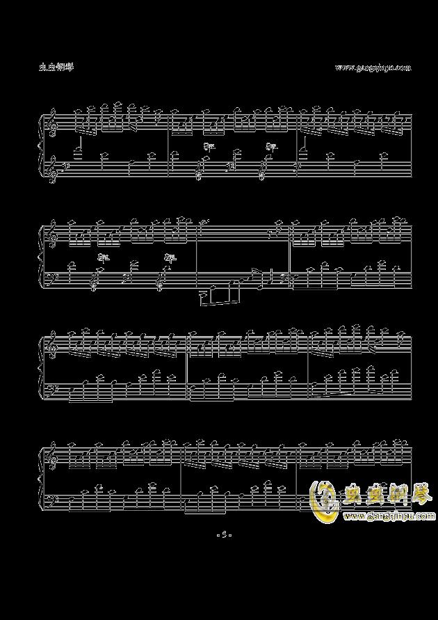 Flower Dance钢琴谱 第5页