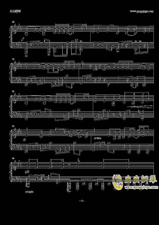 岁月如歌钢琴谱 第4页