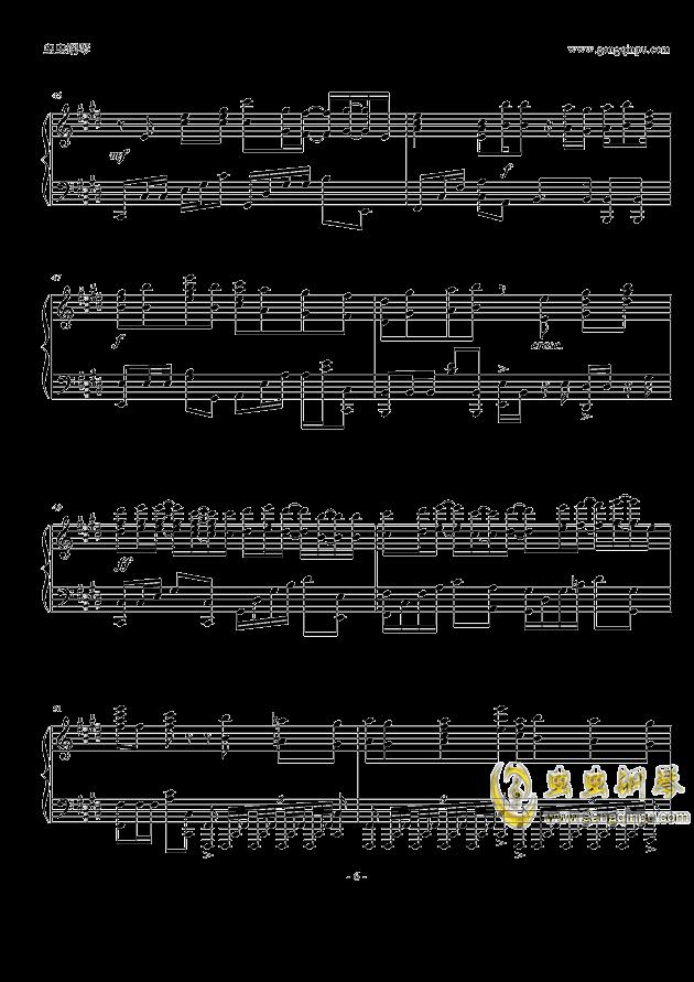 岁月如歌钢琴谱 第6页