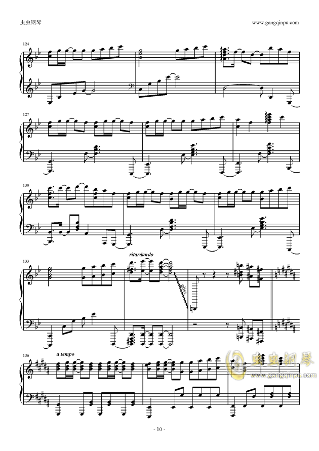 only my railgun钢琴谱 第10页
