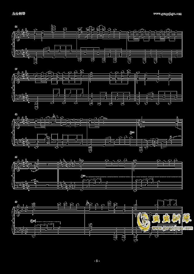 only my railgun钢琴谱 第5页