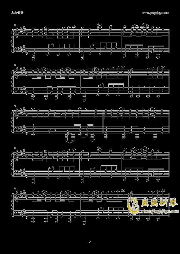 only my railgun钢琴谱 第7页