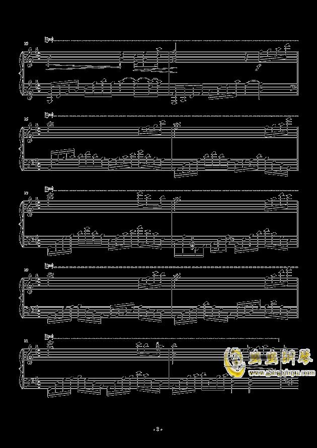 思念钢琴谱 第3页
