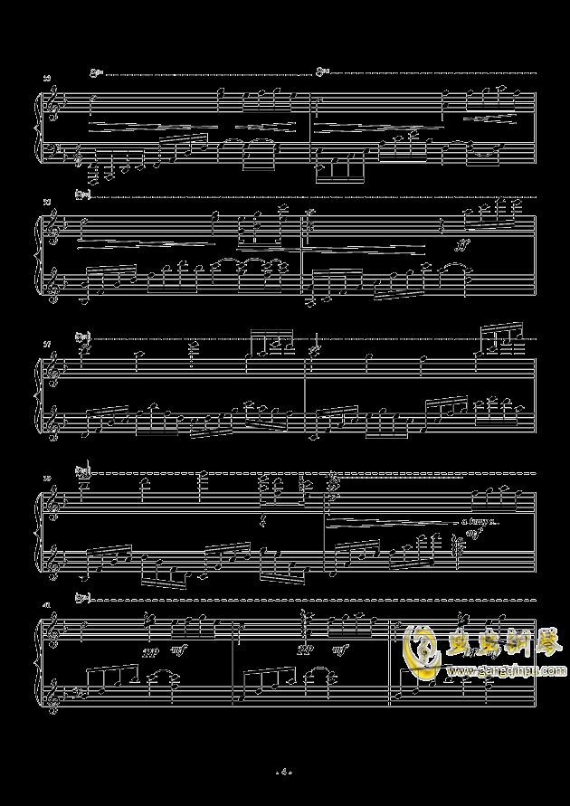 思念钢琴谱 第4页