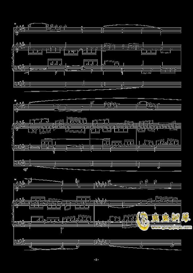 怀念巴赫钢琴谱 第2页