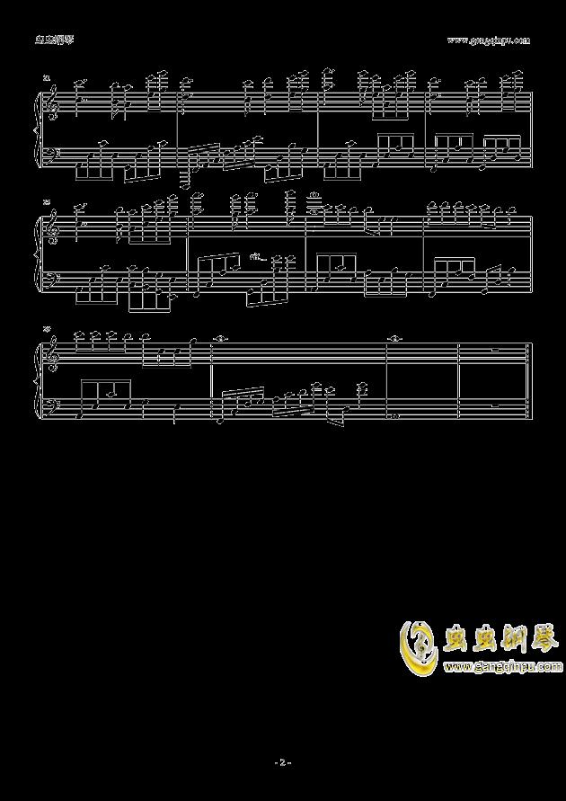 犹记多情钢琴谱 第2页
