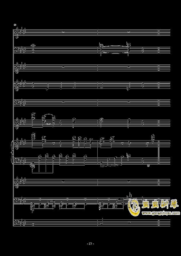 冬日的私语钢琴谱 第17页