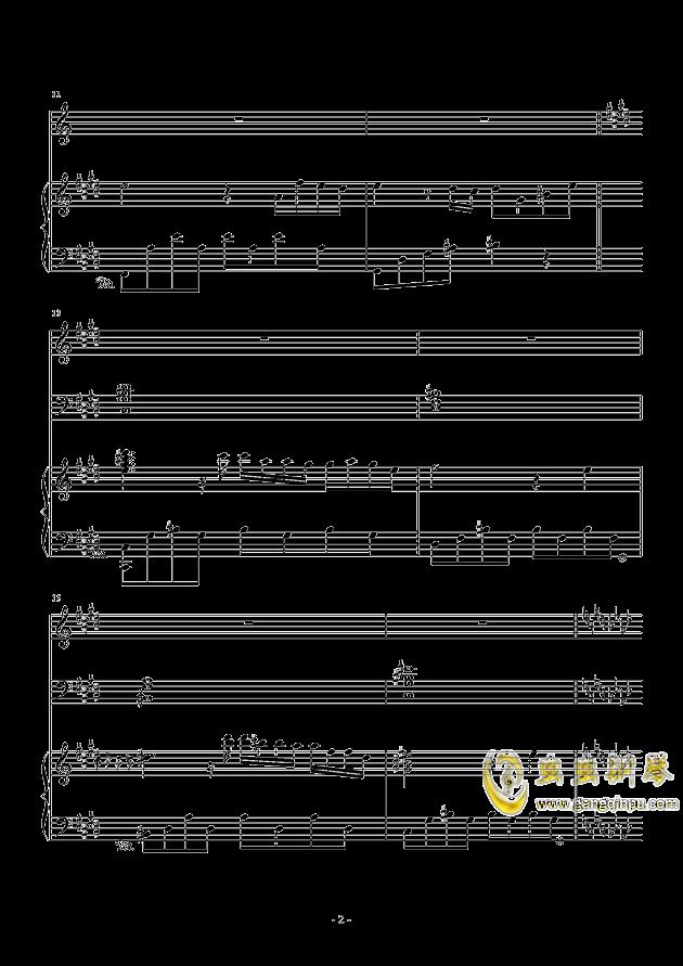 冬日的私语钢琴谱 第2页