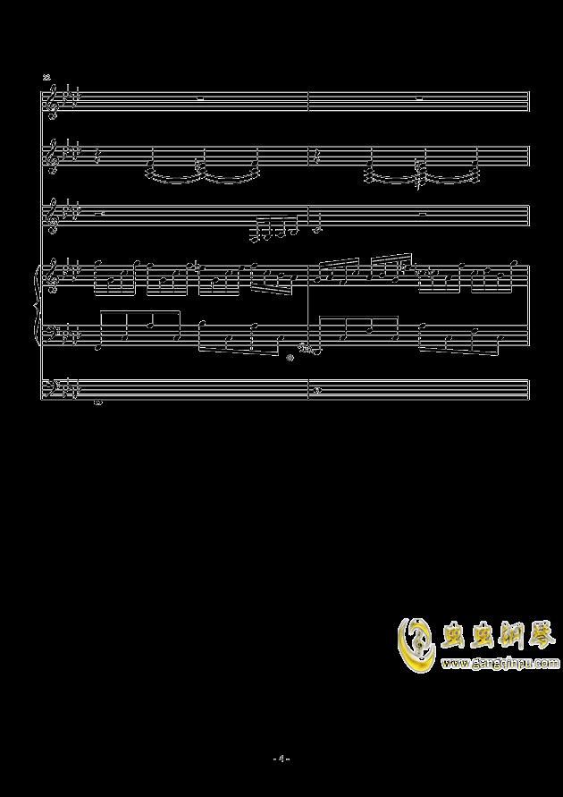 冬日的私语钢琴谱 第4页
