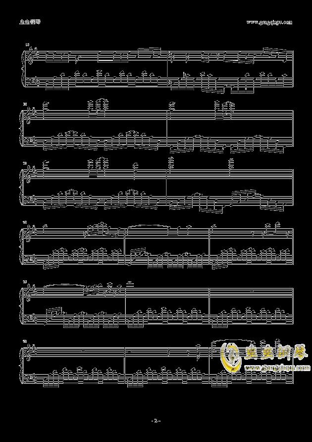 玩具城飞船BGM钢琴谱 第2页