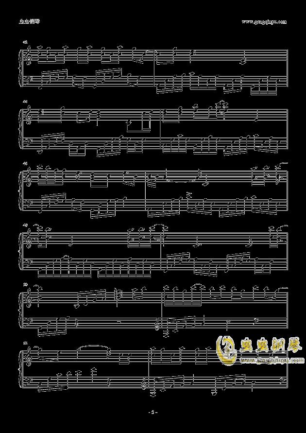 你就不要想起我钢琴谱 第5页