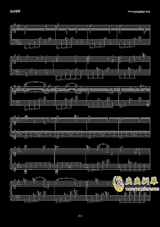 钢琴谱 不可