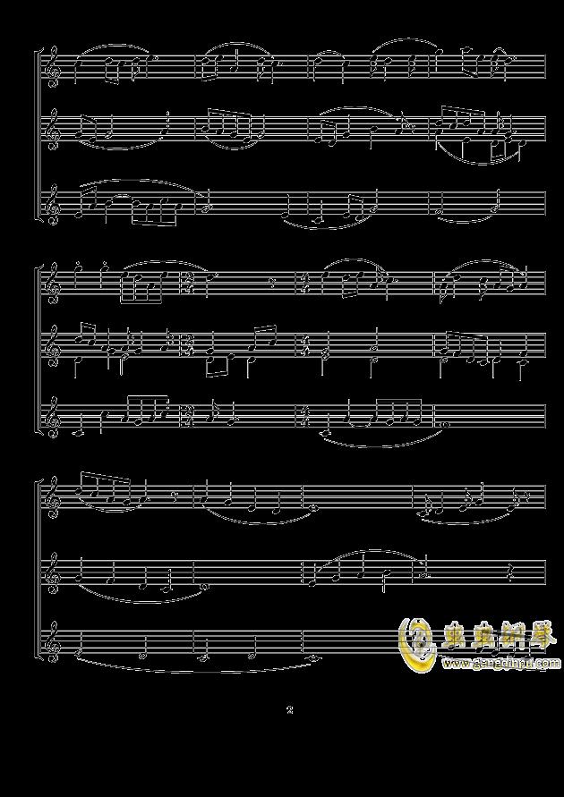 摇篮曲钢琴谱 第2页