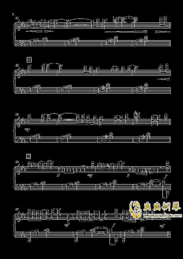 少女与青空钢琴谱 第2页