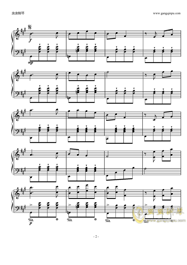 Piano Solo钢琴谱 第2页
